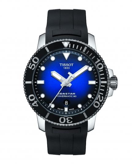 天梭表Seastar 1000海星系列自動款潛水腕錶,NT23,200。