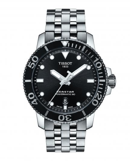 天梭表Seastar 1000海星系列自動款潛水腕錶,NT24,100。