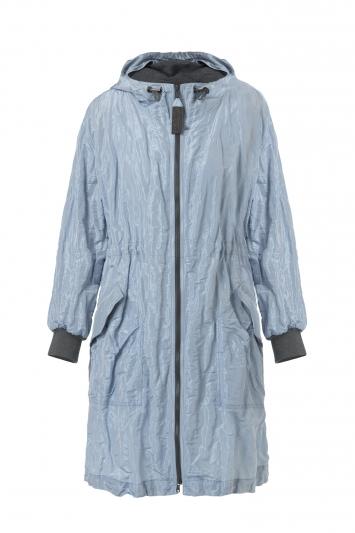 水藍色連帽縮口風衣,Brunello Cucinelli,價格電洽。