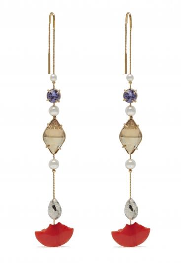 寶石綴飾耳環,Mulberry,NT7,800。