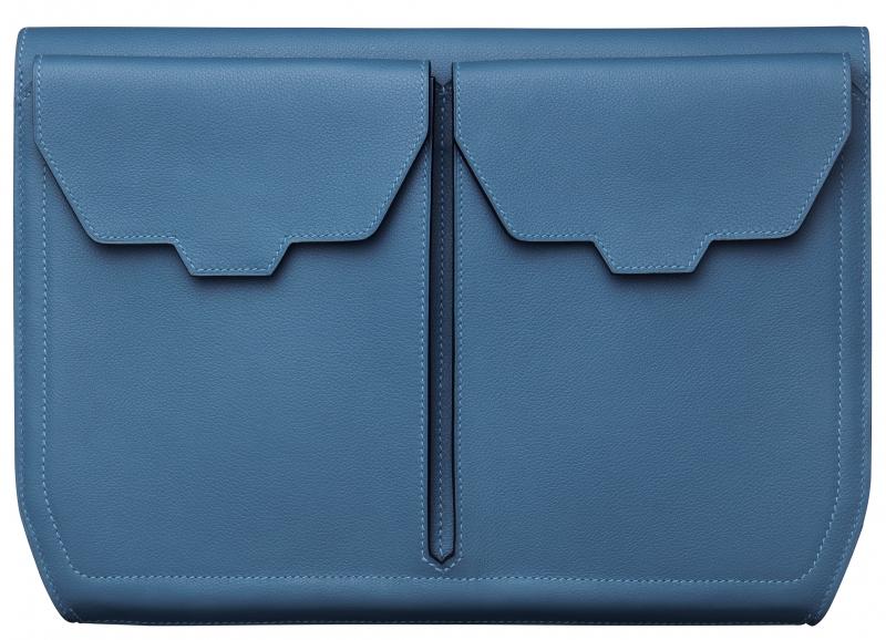 小牛皮公事包,Hermès,NT165,500。