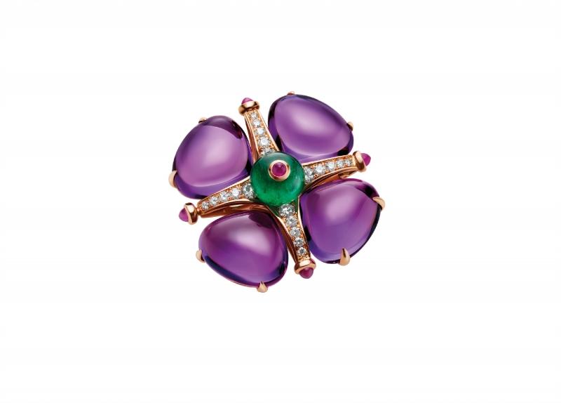 BVLGARI Wild Pop ANDY WARHOL系列 Andy's pins 頂級紫水晶與鑽石胸針
