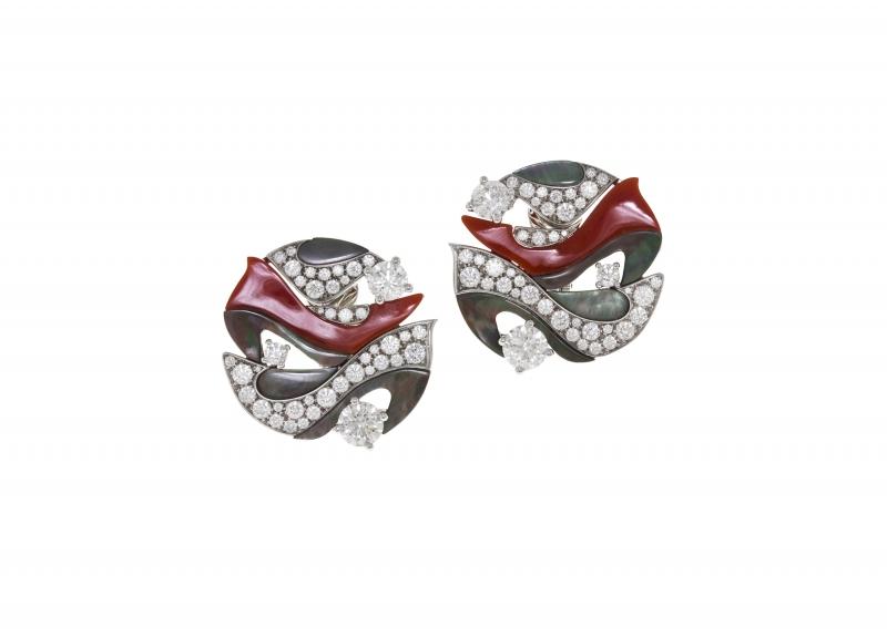 BVLGARI Wild Pop ANDY WARHOL系列 Diamond Dust Shoes 頂級珊瑚,珍珠母貝與鑽石項鍊
