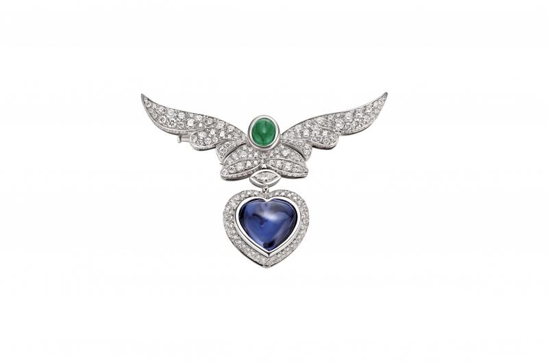 BVLGARI Wild Pop ANDY WARHOL系列 Pop Heart 頂級坦桑石與鑽石項鍊