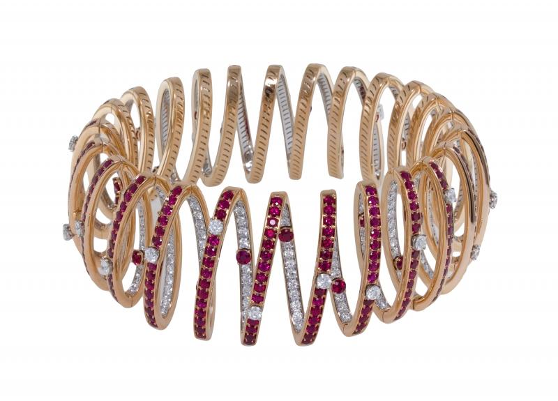 BVLGARI Wild Pop ANDY WARHOL系列 The Ruby Spring 頂級鑽石與紅寶石頸鍊