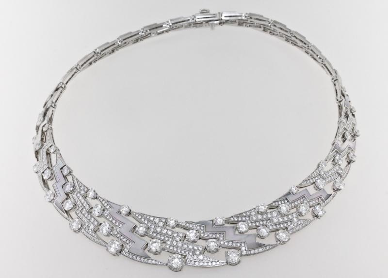 BVLGARI Wild Pop MUSIC系列 頂級鑽石與珍珠母貝項鍊