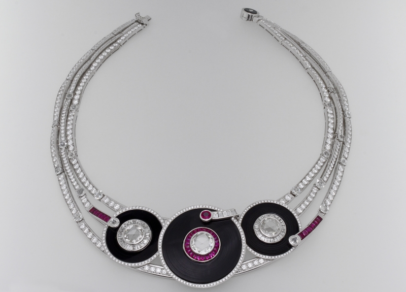BVLGARI Wild Pop MUSIC系列 Play It Again 頂級紅寶石瑪瑙與鑽石項鍊