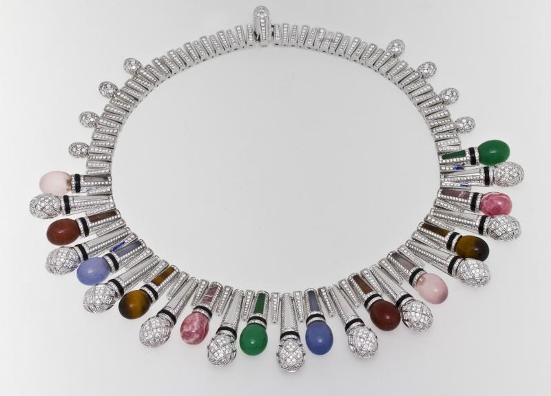 BVLGARI Wild Pop MUSIC系列 Pop Mics 頂級彩寶與鑽石項鍊