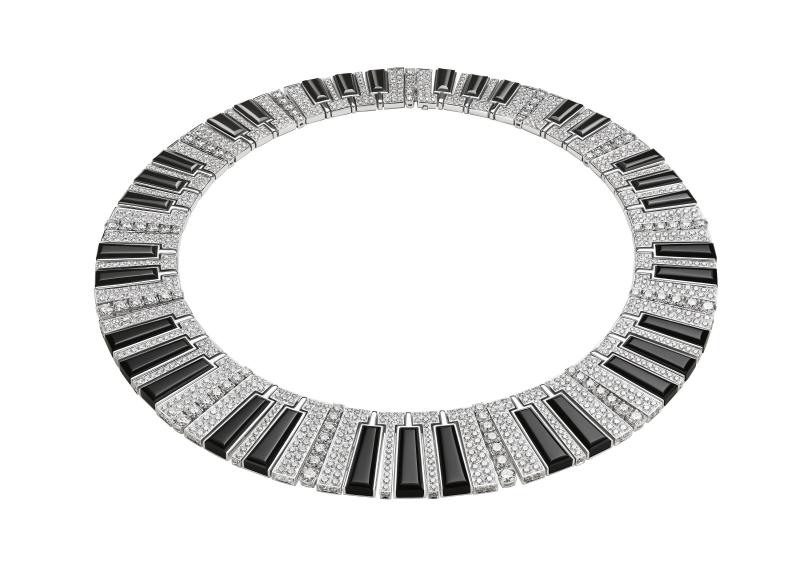 BVLGARI Wild Pop MUSIC系列 Synthetiser頂級縞瑪瑙與鑽石項鍊