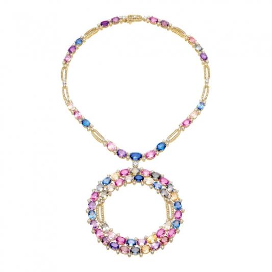 BVLGARI Wild Pop ROARING 80's系列 頂級藍寶石與鑽石項鍊