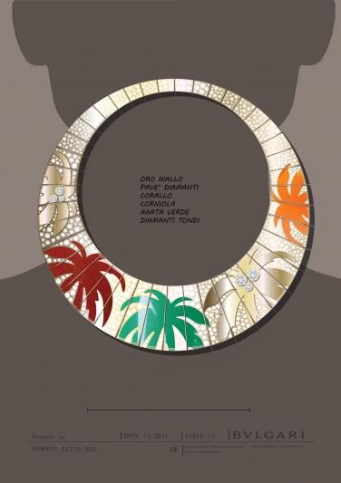 BVLGARI Wild Pop ROARING 80's系列 Miami Palms 頂級玉髓與鑽石項鍊