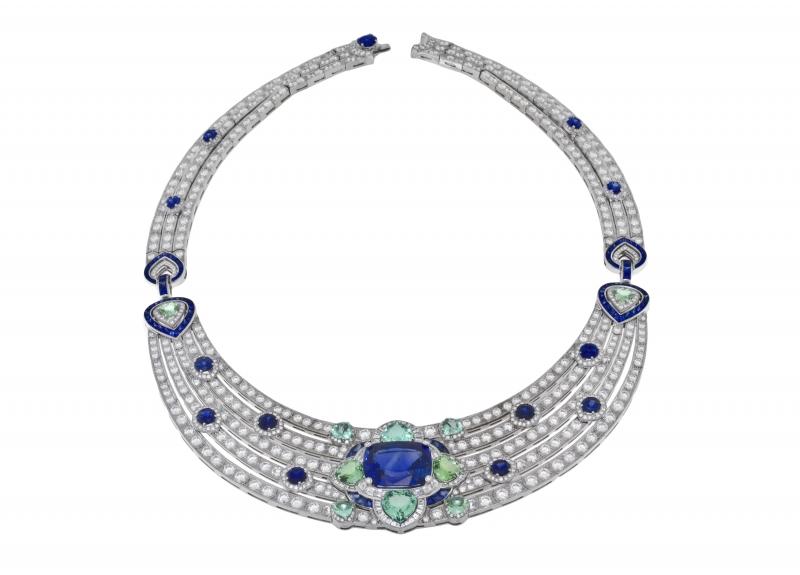 BVLGARI Wild Pop ROARING 80's系列 Queen of Pop 頂級鑽石與藍寶石項鍊