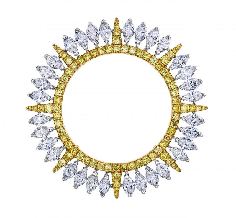 Diamond Legends by De Beers 高級珠寶系列 - Ra 項鍊(吊墜外圈細部圖)