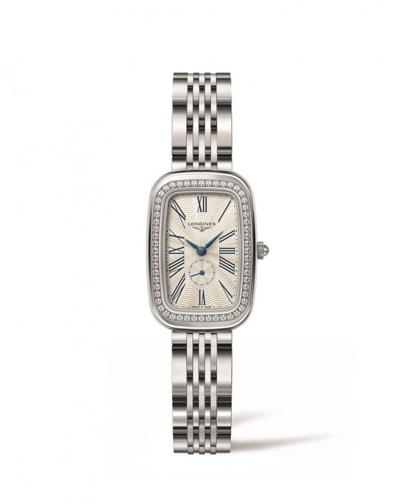 LONGINES 浪琴表騎士系列琺瑯飾紋鑲鑽馬轡造型腕錶 (L6.141.0.71.6),建議售價 NT$100,300