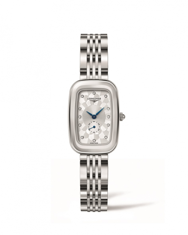 LONGINES 浪琴表騎士系列棋盤紋馬轡腕錶 (L6.141.4.77.6),建議售價NT$51,900