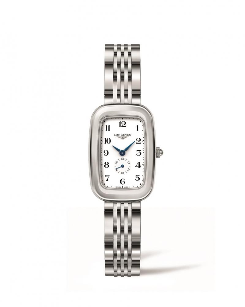 LONGINES 浪琴表騎士系列阿拉伯數字時標馬轡造型腕錶 (L6.141.4.13.6),建議售價NT$41,500