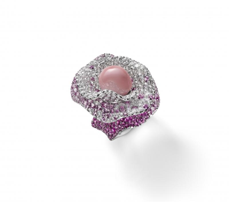 MIKIMOTO Juex de Rubans孔克珍珠高級珠寶彩寶戒指