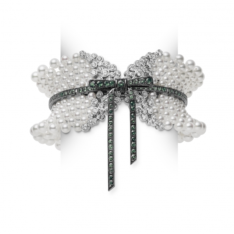 MIKIMOTO Juex de Rubans日本Akoya珍珠高級珠寶馬甲手環