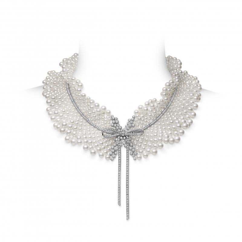 MIKIMOTO Juex de Rubans日本Akoya珍珠高級珠寶項鍊