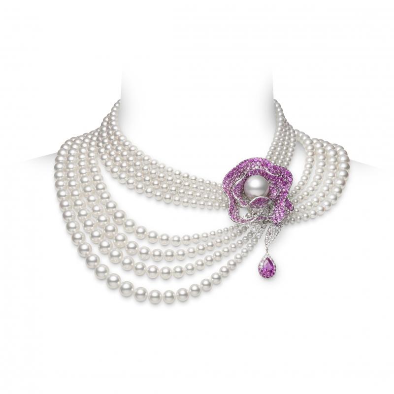 MIKIMOTO Juex de Rubans日本Akoya珍珠高級珠寶彩寶項鍊