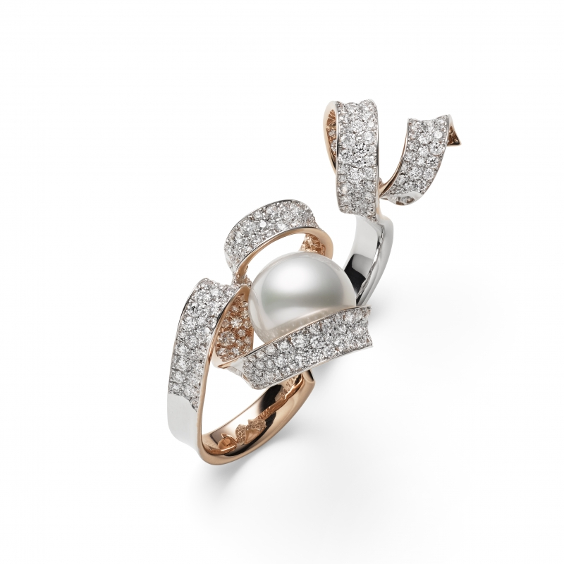 MIKIMOTO Juex de Rubans南洋珍珠高級珠寶指間戒