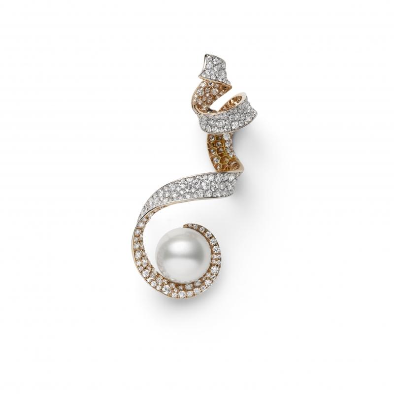 MIKIMOTO Juex de Rubans南洋珍珠高級珠寶鑽石耳環