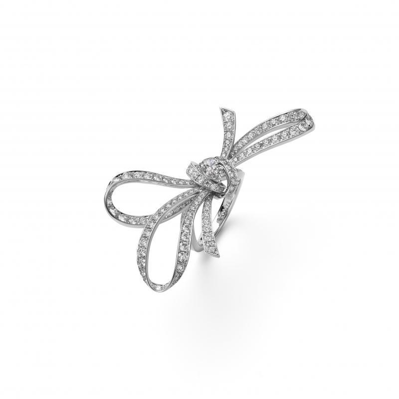 MIKIMOTO Juex de Rubans高級珠寶鑽石絲帶戒指