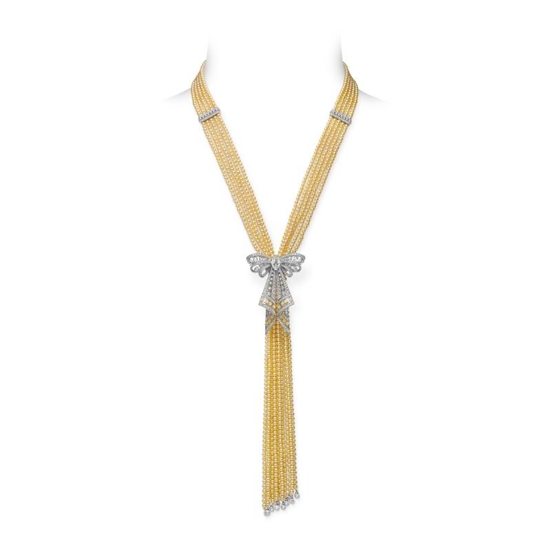 MIKIMOTO Juex de Rubans日本Akoya珍珠高級珠寶鑽石項鍊