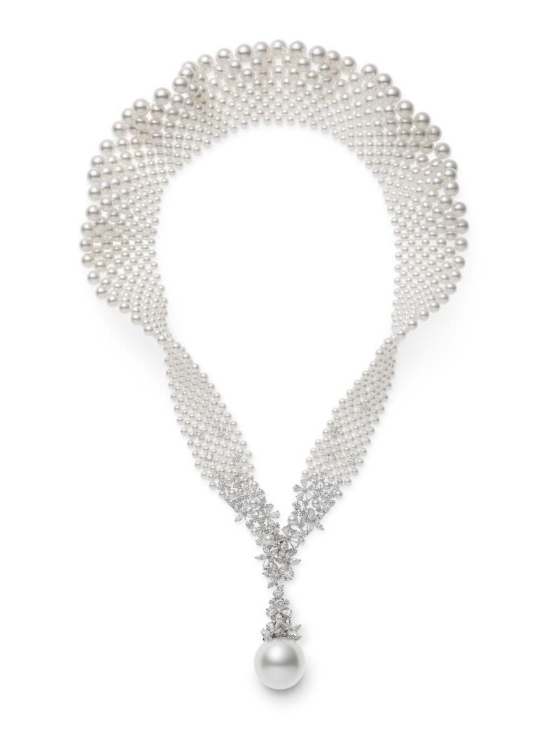 MIKIMOTO Juex de Rubans南洋珍珠高級珠寶鑽石項鍊