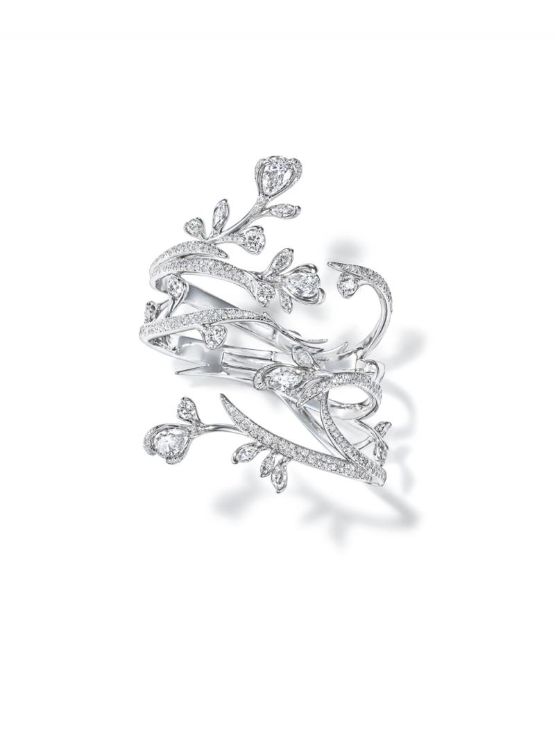 Lueur du jour 鑽石鉑金手環