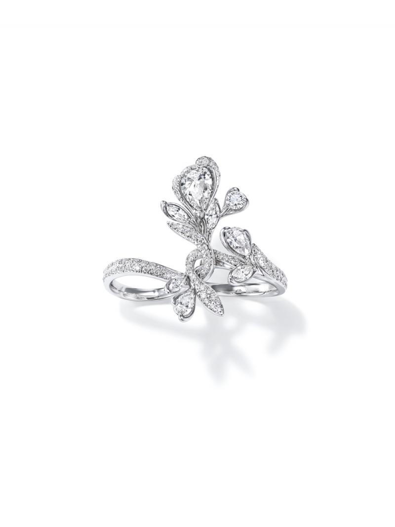 Lueur du jour 鑽石鉑金戒指