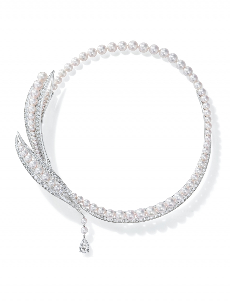 Perles de lumiere 鑽石珍珠項鍊