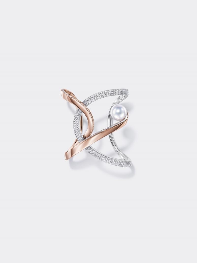 TASAKI Atelier_Aurora 南洋珍珠櫻花金鑲鑽手環