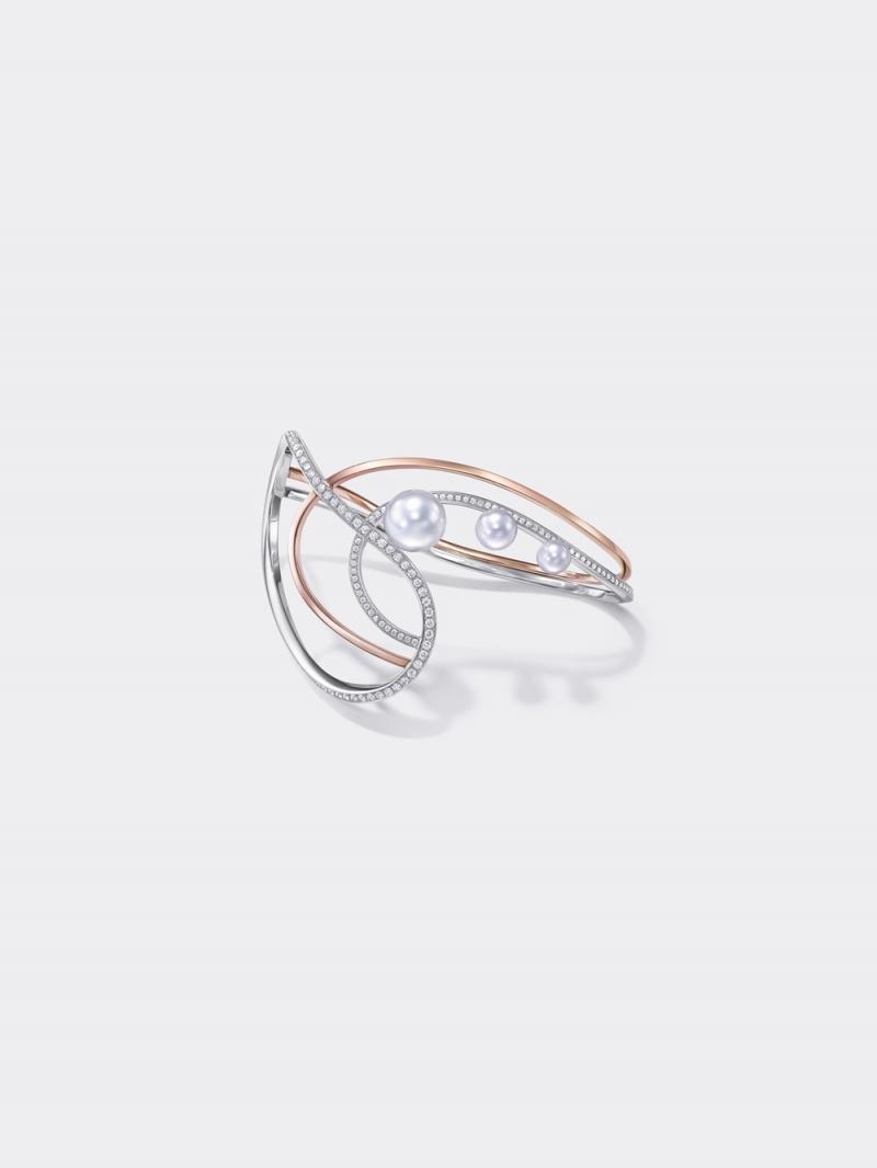 TASAKI Atelier_Nacreous 南洋珍珠櫻花金鑲鑽手環