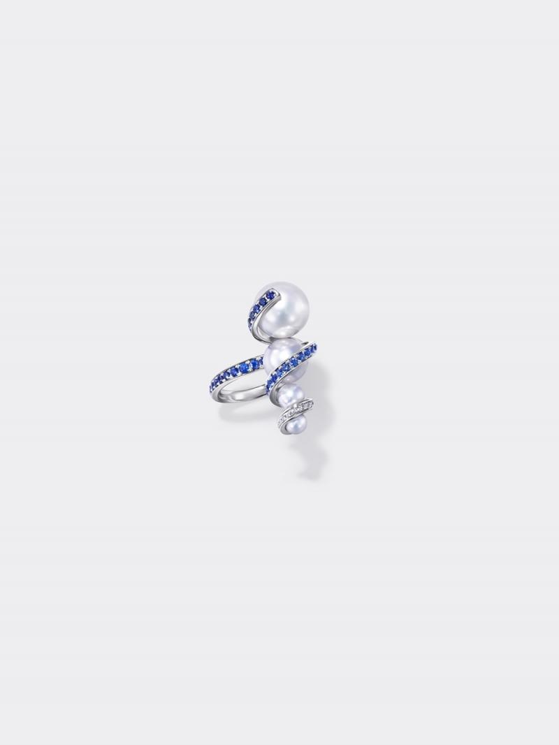 TASAKI Atelier_Aurora 南洋珍珠藍色剛玉戒指