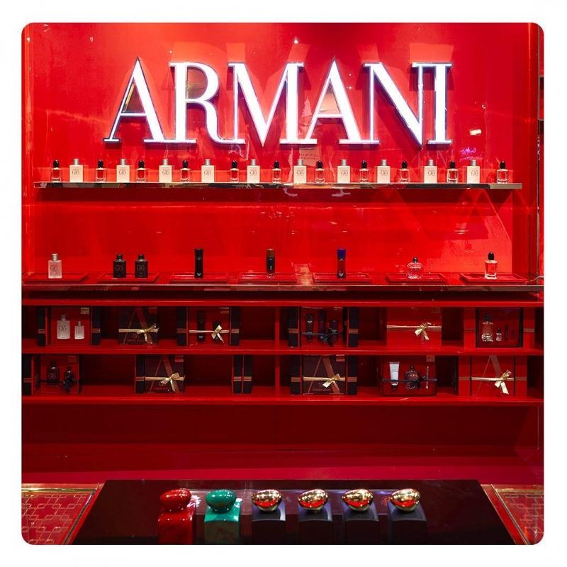 紐約Armani Box香氛牆(IG@ArmaniBeauty)