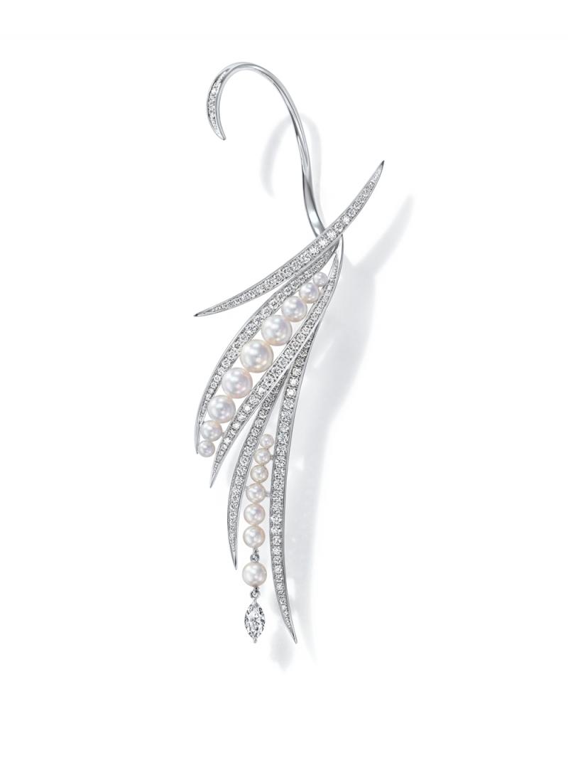 RITZ PARIS par TASAKI Perles de lumiere 鑽石珍珠耳環
