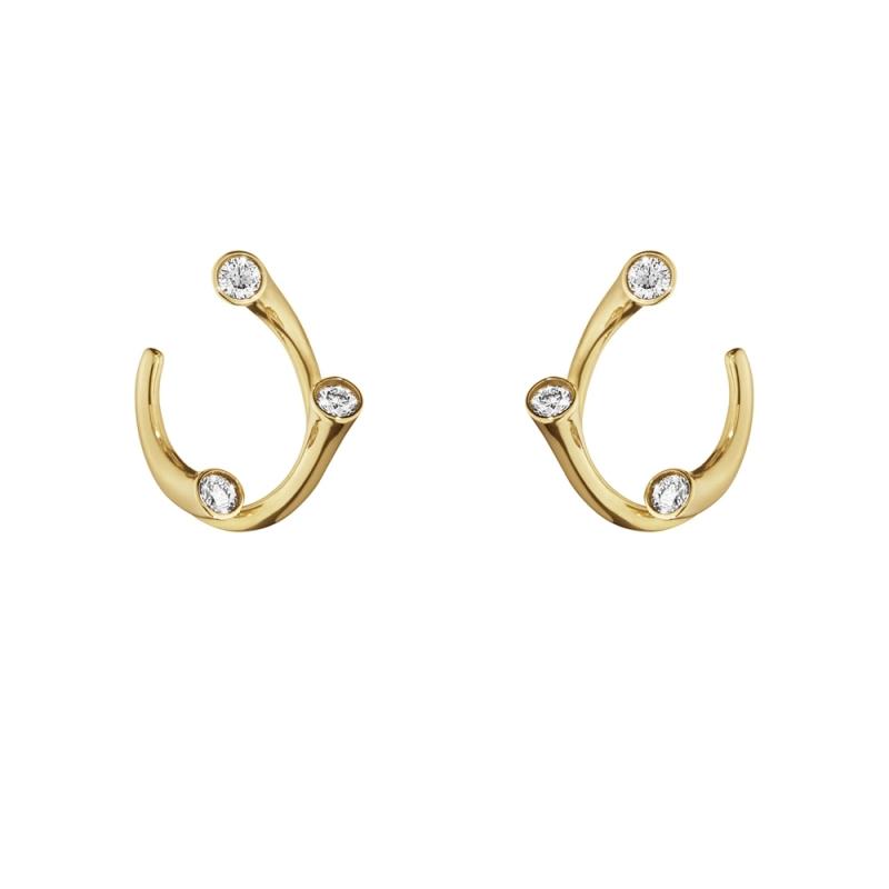 GEORG JENSEN_MAGIC 18K黃金鑽石耳環_建議售價NT$40,500