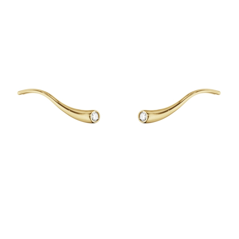 GEORG JENSEN_MAGIC 18K黃金鑽石耳環_建議售價NT$32,800