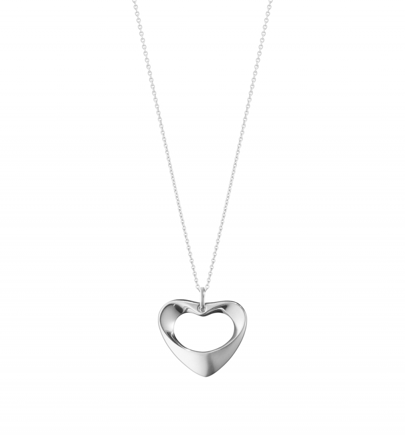 GEORG JENSEN_HEARTS OF GEORG JENSEN 純銀鍊墜(中)_建議售價NT$ 6,300