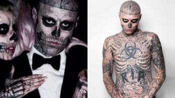 曾罹患腦瘤、與女神卡卡同台...「殭屍男孩Zombie Boy」Rick Genest生日前夕自殺身亡,享年32歲