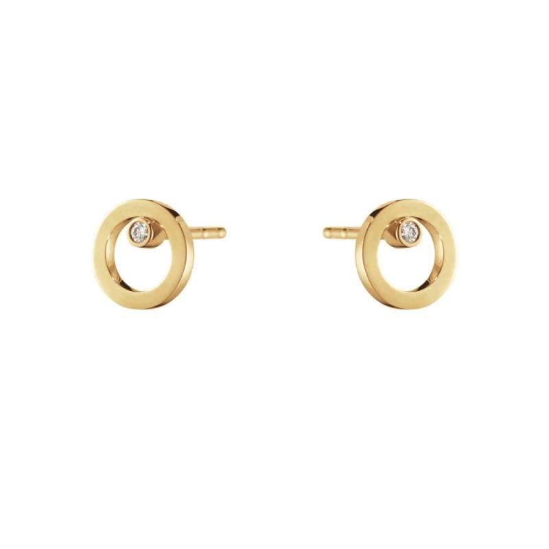 GEORG JENSEN_HALO 18K黃金鑽石耳環