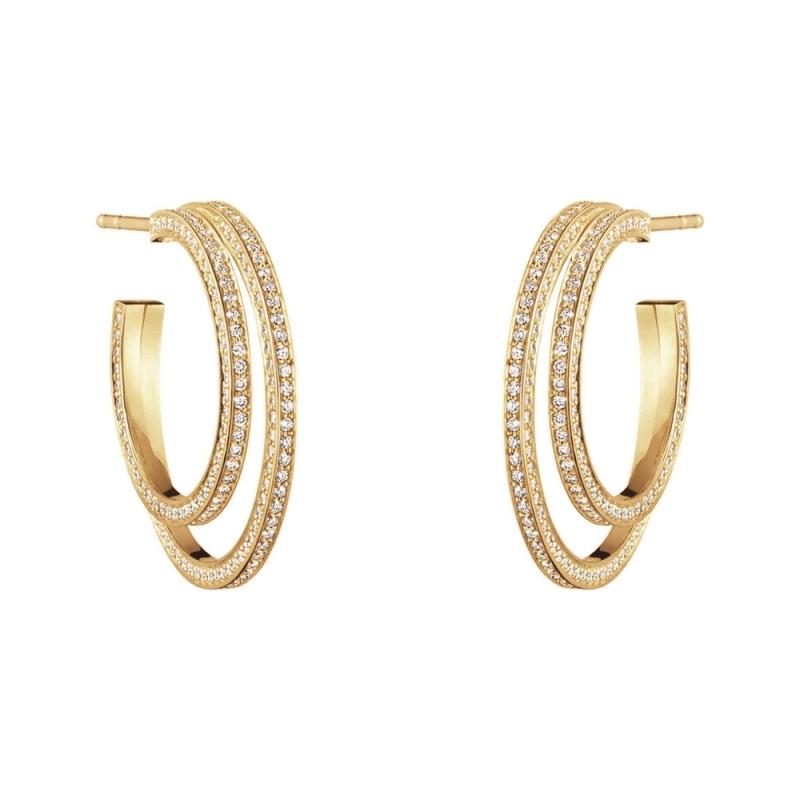 GEORG JENSEN_HALO 18K黃金鋪鑽耳環參考價NT$170,000