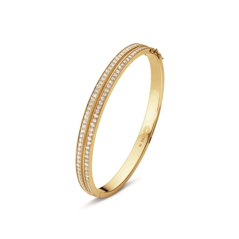 GEORG JENSEN_HALO 18K黃金鋪鑽手鐲 參考價NT$285,000