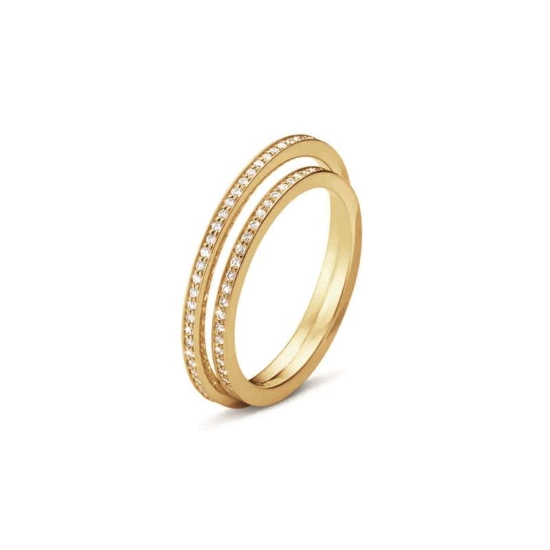 GEORG JENSEN_HALO 18K黃金鋪鑽戒指 參考價NT$68,000