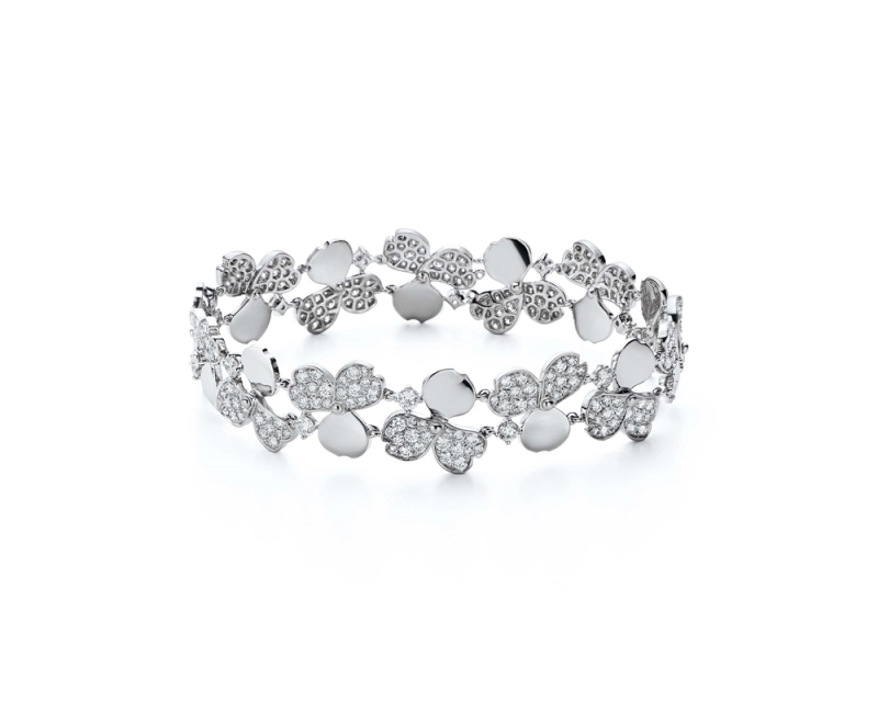 Tiffany Paper Flowers 系列 - 花瓣設計鉑金鑲鑽手鍊 NT$1,270,000