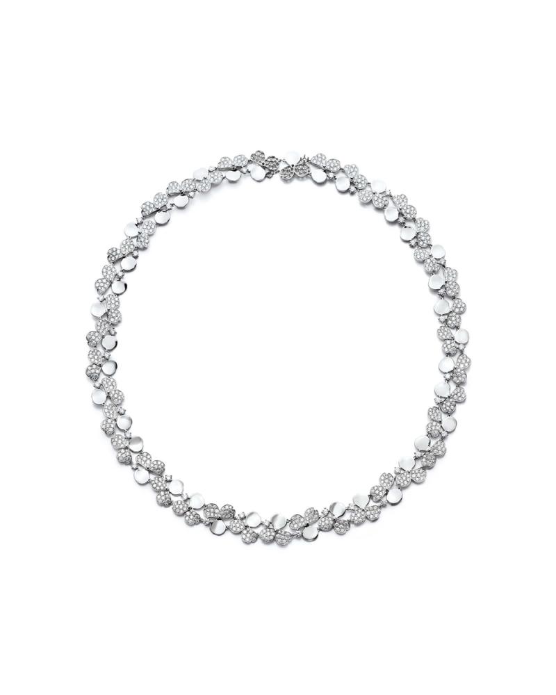 Tiffany Paper Flowers 系列 - 花瓣設計鉑金鑲鑽頸鍊 NT$2,725,000