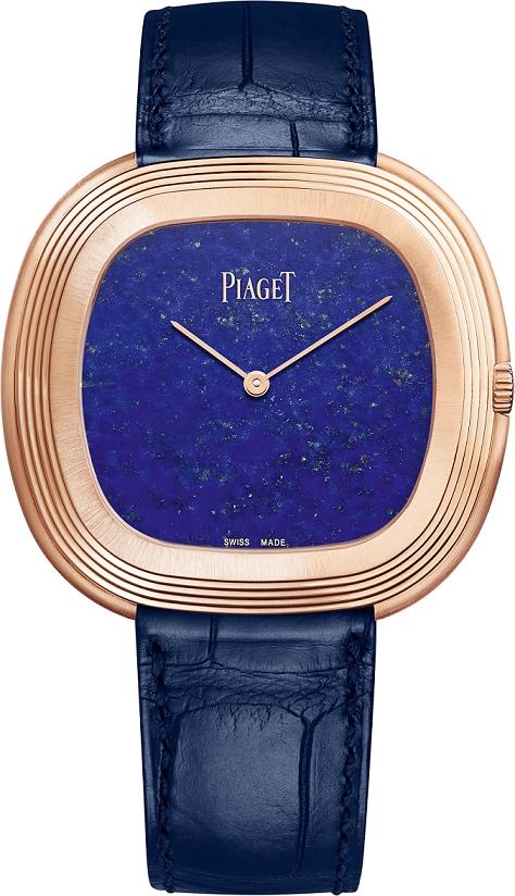 (現代款) Black Tie Vintage Inspiration腕錶 45x43x7.6mm,18K玫瑰金 青金石錶盤 搭載伯爵製534P自動上鍊機芯 靈感來自安迪沃荷收藏古董腕錶 藍色鱷魚皮錶帶,搭配針扣式錶釦 G0A43236台幣參考價格1,070,000
