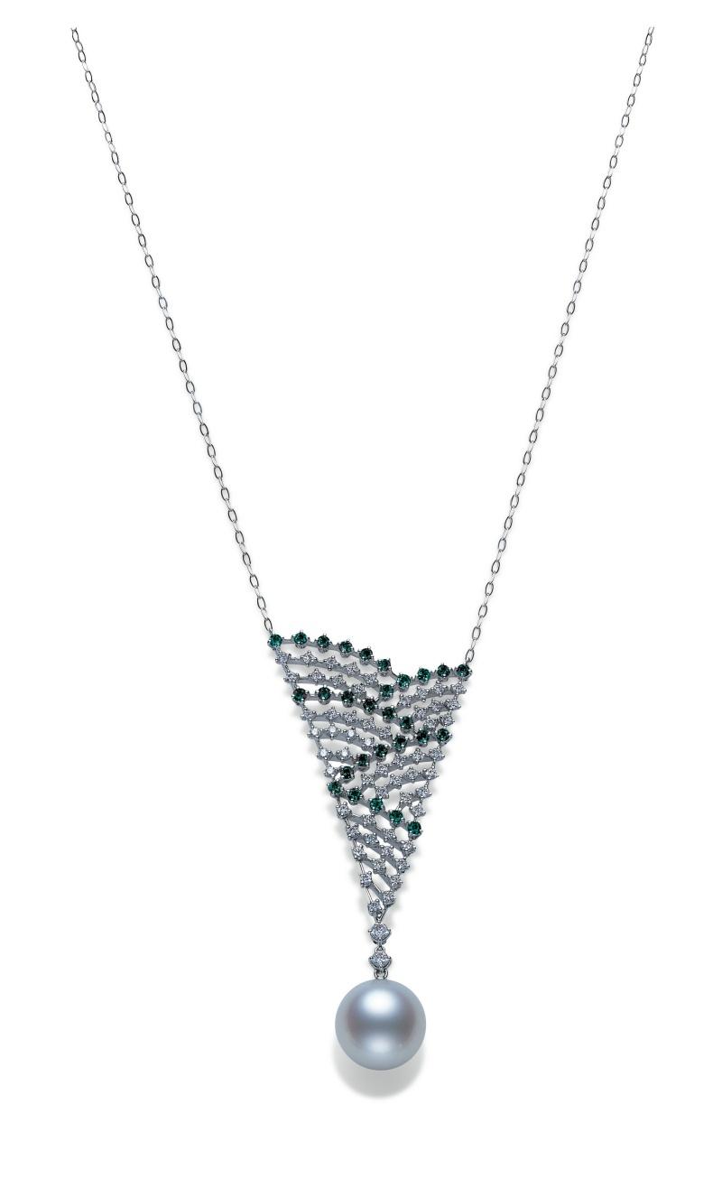 MIKIMOTO Essential Collection 南洋珍珠高級珠寶鑽石墜鍊