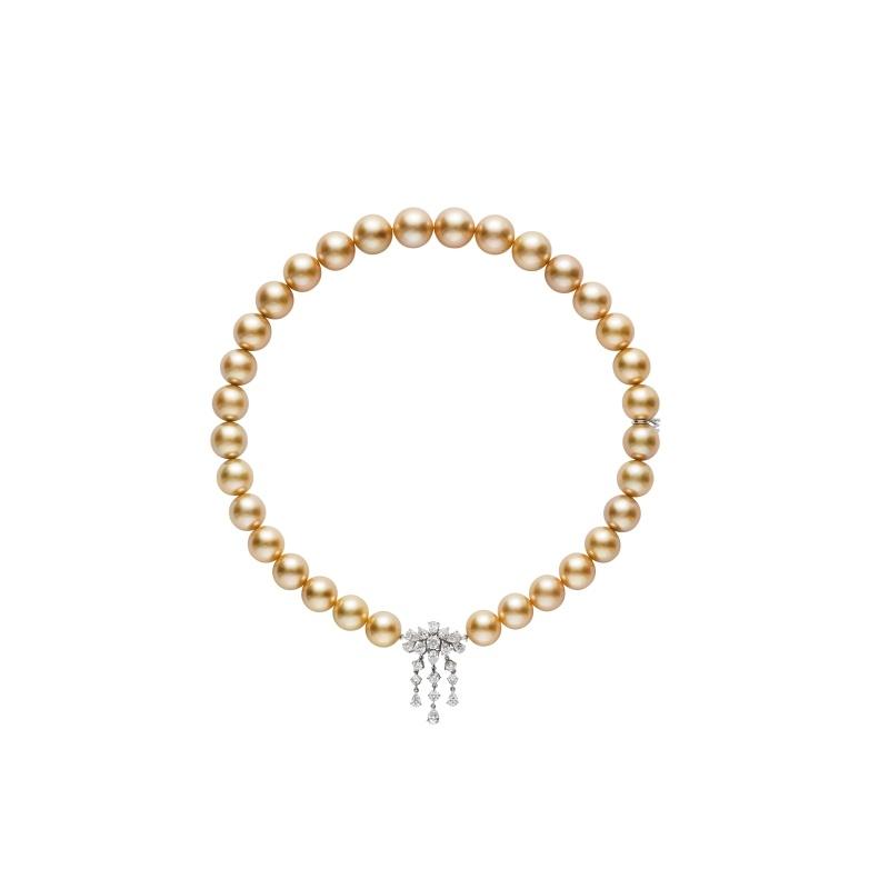 MIKIMOTO 南洋黃金珍珠高級珠寶鑽石項鍊